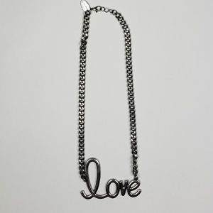 Jewelry - Silver 'Love' Necklace